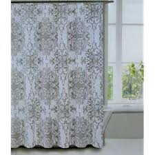Charcoal Shower Curtain Tahari Home Milan Scroll Large Medallion Design Charcoal Grey On