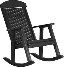 Wooden Rocking Chair Outdoor Luxcraft Poly Porch Rocker Swingsets Luxcraft Poly Furniture