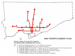 Ttc Subway Map by Get Toronto Moving Transportation Plan History Yonge Spadina Subway