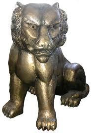 gold lion statue statues nz s largest prop costume hire company