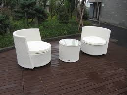 waterproof white resin wicker chair set for home restaurant