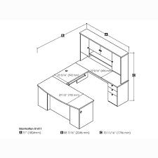 bestar innova u shaped workstation desk brilliant bestar manhattan u shaped desk in secret maplechocolate or