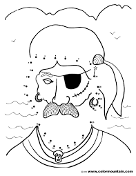 pirate dot to dot coloring page create a printout or activity