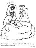 baby jesus coloring page nativity coloring pages