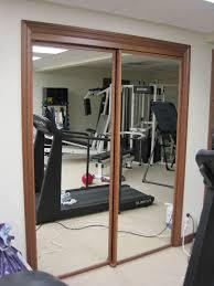 Mirror Bypass Closet Doors Stylish Mirrored Closet Doors