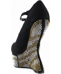 breckelle shanon 03 rhinestone heel less platform wedge shoes