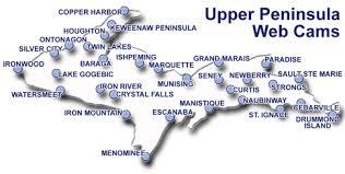 up michigan map peninsula of michigan web cams