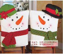 Christmas Chair Back Covers Aliexpress Com Buy 2pcs Christmas Snowman Chair Covers Home