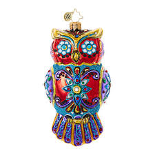 christopher radko ornaments radko halloween ornate owl 1018720