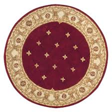 area rugs home decorators home decorators collection windsor burgundy 8 ft round area rug