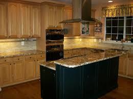 maple cabinets with black island light oak wall cabinets w black island