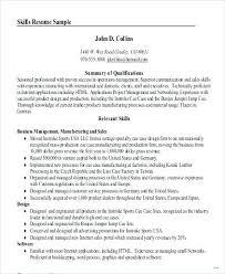 skills resume exles professional summary resume exle