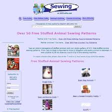 over 50 free stuffed animal sewing patterns at allcrafts pearltrees