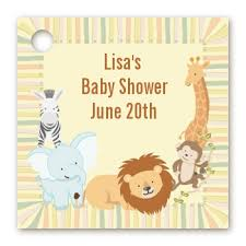 personalized baby shower favors baby shower favor tags jungle safari party favor tags