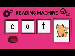 reading machine middle a cvc words blending 3 letter words