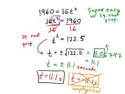 showme quadratic formula word problems