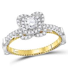 engagement rings sale images 14kt two tone gold womens round diamond solitaire bridal wedding jpg
