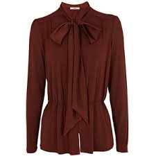 brown blouse oasis tops chocolate brown pussybow blouse womens fashion
