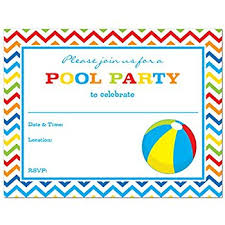 amazon com pool party invitations with envelopes 15 count