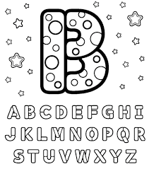 b letter alphabet coloring pages alphabet coloring pages of