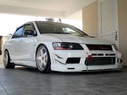 mitsubishi evo white the white r32taka