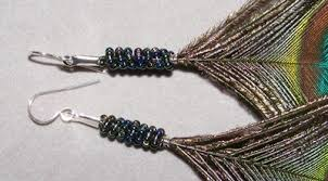 how to make feather earrings with peacock feather earrings jewelry