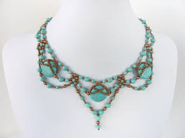 734 best bead necklaces images on pinterest knitting tutorials
