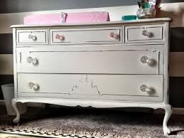 Vintage Baby Changing Table Vintage Dresser To Baby Nursery Changing Table Midwest Cottage