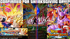 now i int gogeta but thanksgiving day l dokkan global