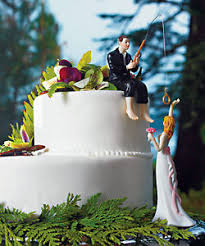 fishing wedding cake toppers hooked on fishing wedding cake topper customization