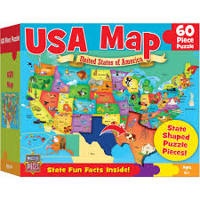 Delaware Map Usa by Masterpieces Usa Map Puzzle 60 Pieces Walmart Com