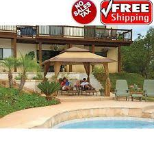 outdoor canopy pergola 12 u0027x10 u0027 gazebo sun shade bbq grill party