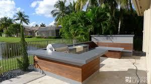 ultra modern outdoor kitchen table u0026 bench outdoor living florida