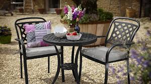 Aluminium Bistro Table And Chairs Hartman Berkeley Midnight Black Cast Aluminium 2 Seater Bistro Set