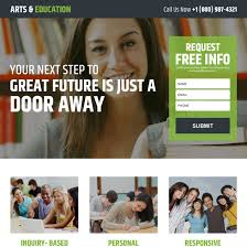 education landing page design templates to get the best conversion