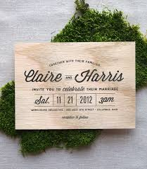 wooden wedding invitations items similar to stacked type real wooden wedding invitation on etsy