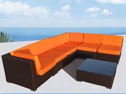 bellagio 9 piece outdoor wicker sectional sofa set las vegas patio