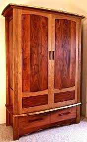 Cherry Armoire Wardrobe Custom Made Mesquite U0026 Cherry Armoire By Louis Fry Craftsman In