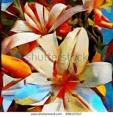 cubism flower painting painting flowers stock images royalty free images vectors