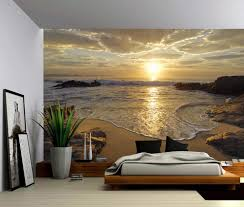 Wall Mural Wallpaper by Sunrise Sea Ocean Wave Sunset Beach Large Wall Mural