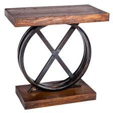 Iron Side Table Xo Iron Side Table With Reclaimed Wood Top Base