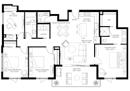 3 Bedroom Condo Floor Plan by Floorplans Orange Club Burns Square Sarasota Fl