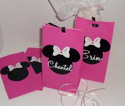 personalized party favor bags disney minnie and mickey mouse personalized party by doomeafavor