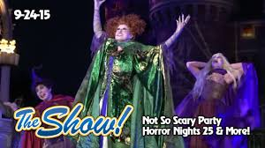 attractions the show not so scary party halloween horror