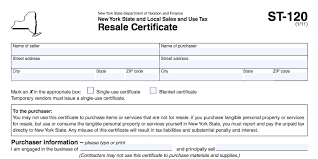 how to use a new york resale certificate