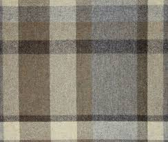 Tartan Drapes Garrick Wool Tartan Fabric A Wool Tartan Fabric In Cream Brown