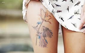 tattoo on leg for women tattoo bird flower leg tattoo tattoo for women animals birds