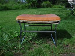 Vanity Stool Chrome Vintage Mid Century Modern Ottoman Chrome Stool Vanity Chair