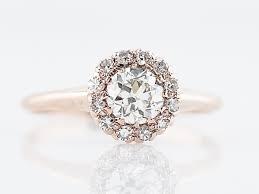engagement rings engagement ring 45 european cut diamond 14k yellow gold