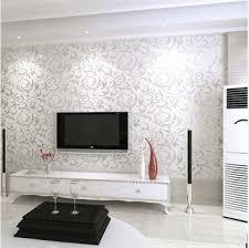 tappezzeria pareti casa nuova carta da parati moderna pvc 3d silver parete rotolo di